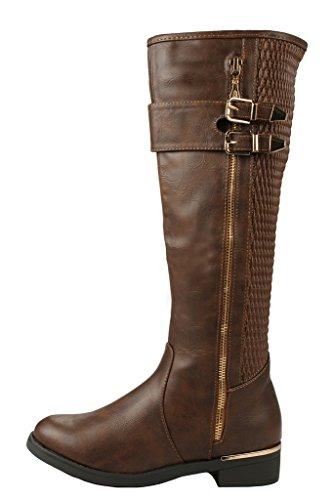 JJF Schuhe für immer Link Mango-21 Lady Boot Brown_ginger