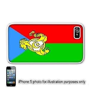 Kumukh Russia Flag Apple iPhone 5 Hard Back Case Cover Skin White