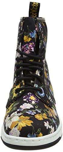 Canvas DF Bottes Fine Dr Darcy Newton Femme Black Parent Martens Floral q64Bw04