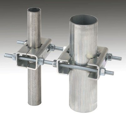 (Ambient Weather EZ-HD-PTP Heavy Duty Mast to Mast Mounting Kit, Silver)