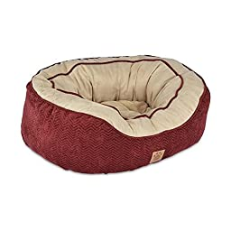 Precision Pet Daydreamer Gusset Bed, 26 by 22 by 10-Inch, Burgundy