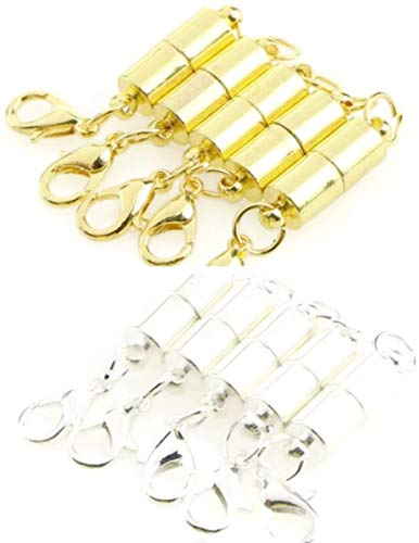 One Clasp (Snap Jewelry 1 30MM X 2MM Magnetic Necklace or Bracelet Clasp Extender with Lobster Hook Gold or Silver (Gold))