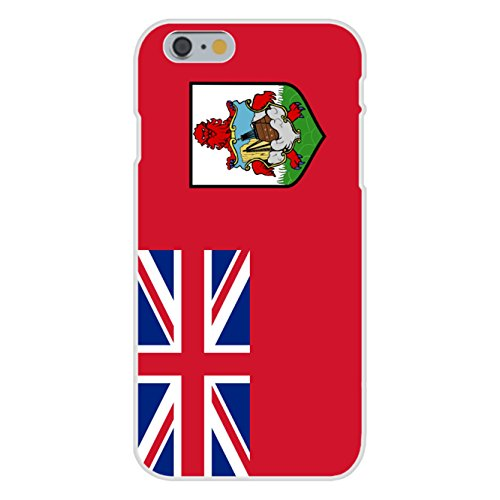Apple iPhone 6+ (Plus) Custom Case White Plastic Snap On - Bermuda - World Country National Flags