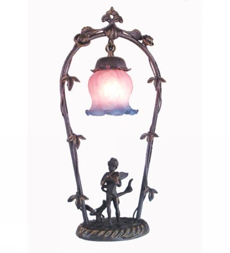Meyda Tiffany 12655 Cherub with Violin Accent Lamp, 19'' H