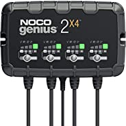 NOCO GENIUS2X4, 4-Bank, 8-Amp (2-Amp Per Bank) Fully-Automatic Smart Charger, 6V And 12V Battery Charger, Batt