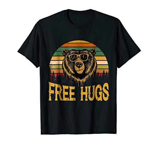- Free hugs Camping Camper Lover Bear Animal Lover gift shirt
