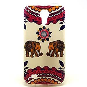 QHY Sun Flower Elephant Pattern Back Cover TPU Soft Case for Samsung Galaxy S4 Mini I9190