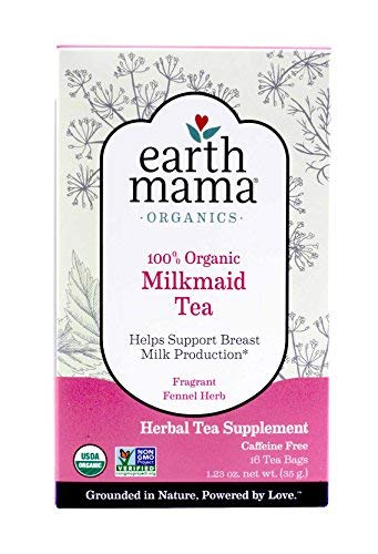 Earth Mama Angel Baby Organic Milkmaid Tea, 16 Teabags/Box (Pack of - Angels Pack Booster