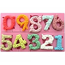 XUEXIN Large Size 0-9 Numbers Shaped Fondant Cake Chocolate Silicone Mold