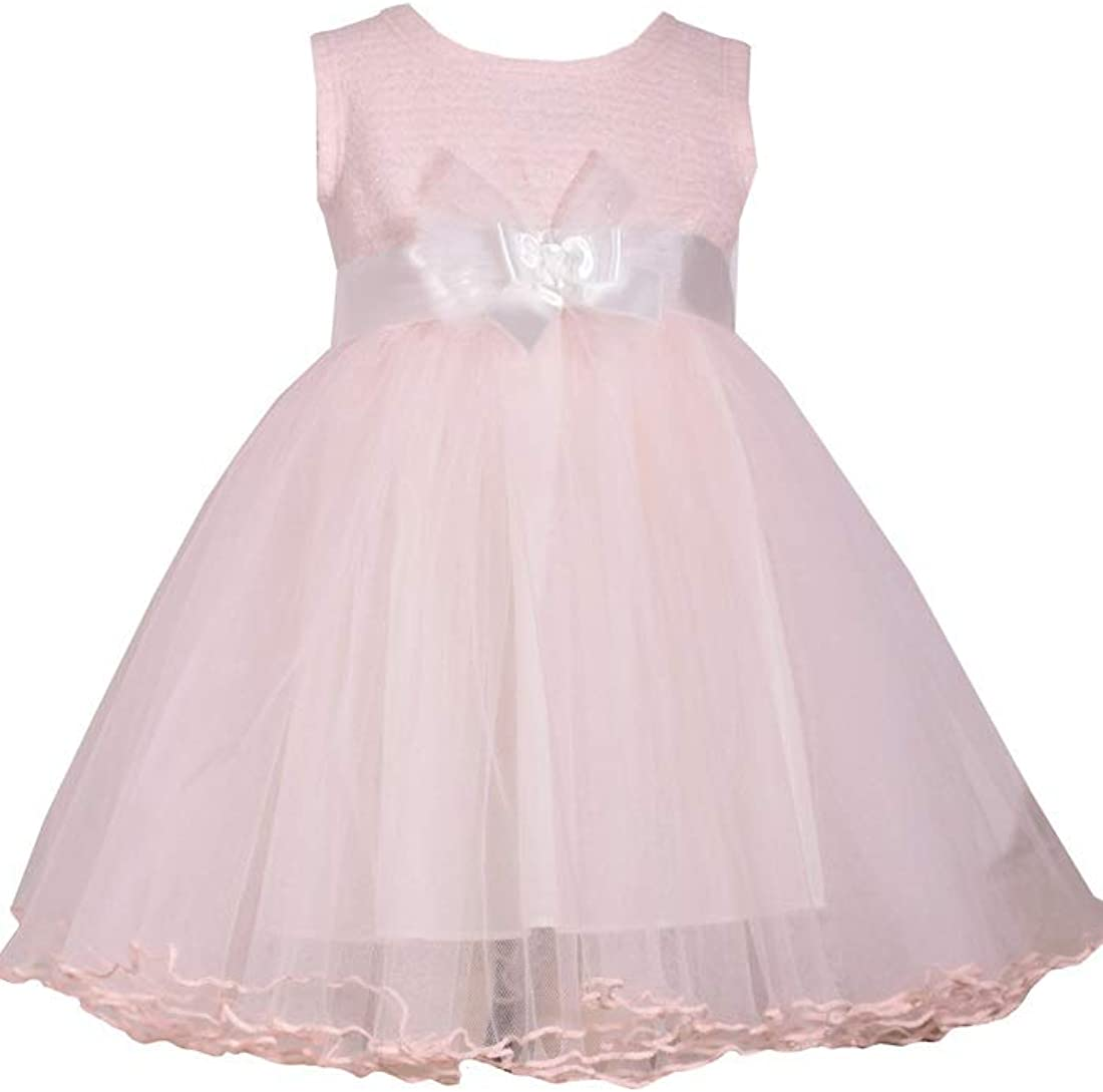 WEDDING BIRTHDAY BONNIE JEAN PINK GIRL/'S SLEEVELESS DRESS WITH FLOWERS PARTY