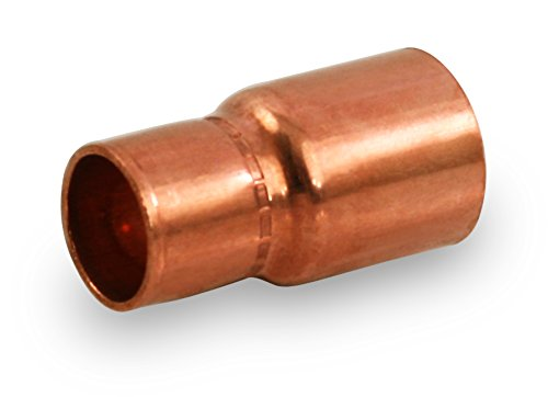 Everflow Supplies FCRC2002 Copper Fitting Reducer with Male Connect and Female Sweat Socket, 2 X 1,