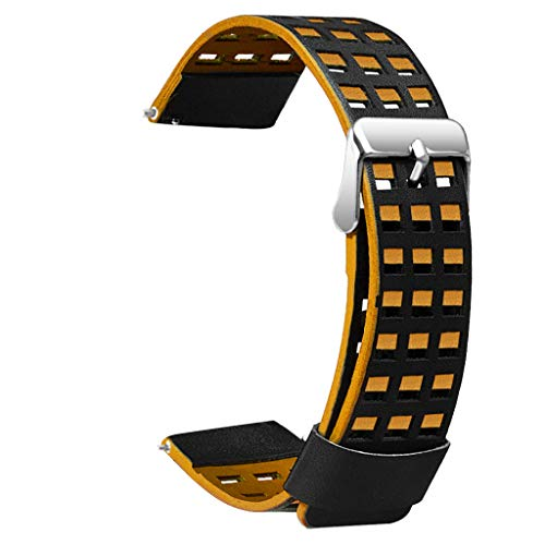 (Replacement Leather Band Strap Bracelet for Huami AMAZFIT 2/2S Stratos Watch for Men Women)