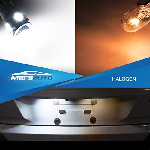 Marsauto 194 LED Bulbs 168 T10 2825 5SMD LED Bulbs Car Dome Map License Plate Lights Lamp White 12V (Pack of 2)