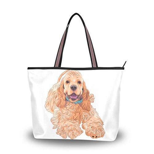 Tote Top Handle Laptop Shoulder Bag Cocker Spaniel Dog Handbag for Women - 17.7 x 13 x 5.1in - by Top Carpenter