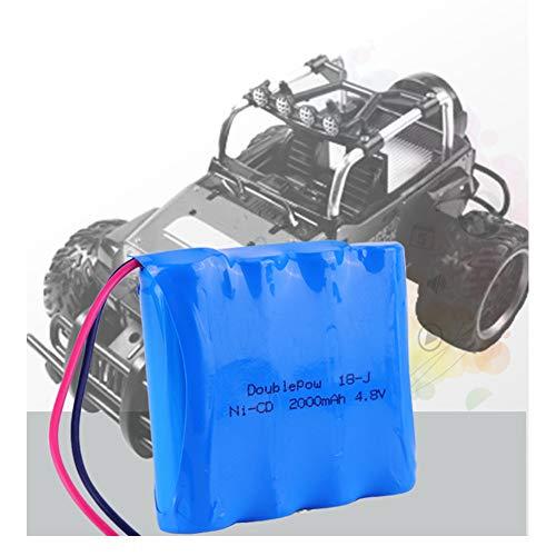 XuBa 4.8V Rechargeable Battery 2000mah Ni-cd Battery for Cars 4.8v RC ()
