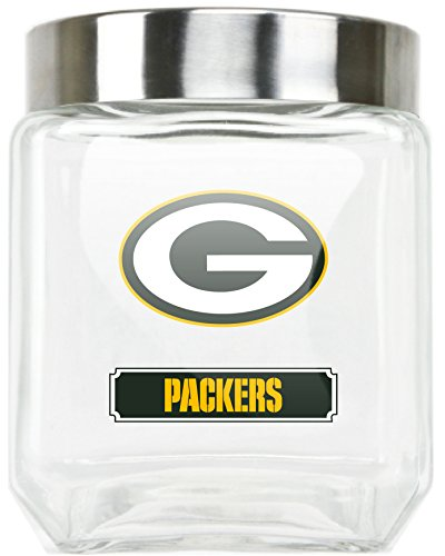 - NFL Green Bay Packers Glass Canister, Large