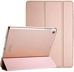 ProCase iPad 10.2 Case 2020 iPad 8th Gen / 2019 7th Generation Case, Slim Stand Hard Back Shell Protective Smart Cover Case for 10.2 Inch iPad 8/7 -Rosegold