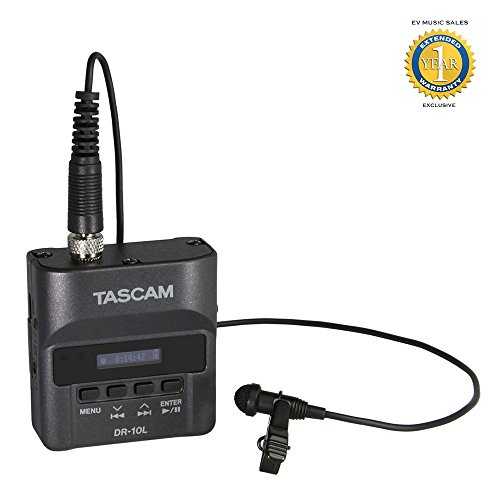 Tascam DR-10L Digital Audio Recorder with Lavalier