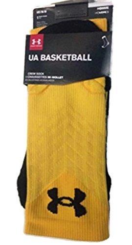 Medium Yellow//Black 790 Under Armour Basketball Crew Socks