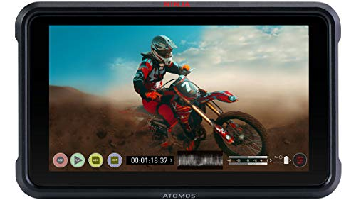Atomos Ninja V 5'' Touchscreen Recording Monitor, 1920x1200, 4K HDMI Input + Abelcine Accessory Kit, Includes 7'' Magic Arm, 2X NP-F770 Batteries, Abelcine Cleaning Cloth and Cable Tie by Abelcine (Image #1)