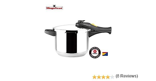 MAGEFESA Style Olla a presión Super rápida de fácil Uso, Acero Inoxidable 18/10, Apta para Todo Tipo de cocinas, Incluido inducción. (3L + 6L): Amazon.es: Hogar