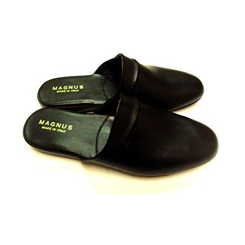 Magnus Esclusive Pantofole Uomo in Pelle Artigianali Nuove Made in Italy