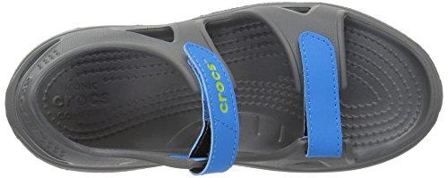 Crocs unisex-kids Swiftwater River Sandal Sandal, Slate Grey/Ocean, 2 M US Little Kid by Crocs (Image #8)