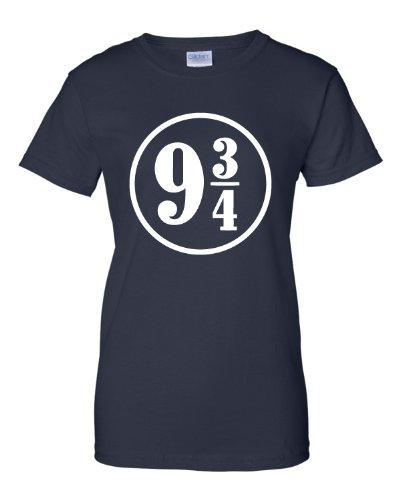 Small Navy Womens Platform 9 3/4 T-Shirt