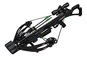 KI350 - High Performance Crossbow - Includes KI LUMIX Scope, 3 Bolts, Quiver, and Deadening String Suppressors - 3.5 lb RTT Trigger
