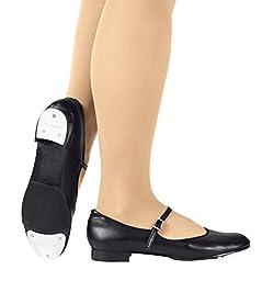 Adult Slide Buckle Tap Shoes,T9200BLK08.5M,Black,08.5M