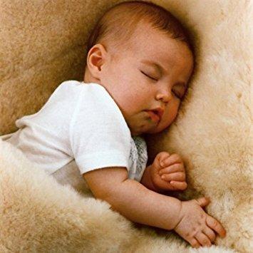 "Lamby Baby's Lambskin Short-Shorn Wool Sleep Pad - Size 36"" X 24"" - Machine Washable"