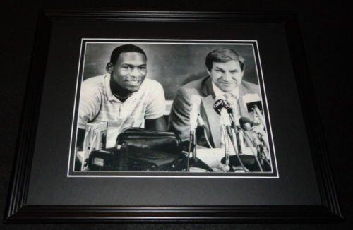 Michael Jordan & Dean Smith Framed 8x10 Photo Poster North Carolina UNC
