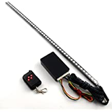 "Completed Set 22"" Scanning 7 Color 5050 SMD 48 Running RGB LED Bar Strip Third Brake Light + Wireless Sound Remote Control + Control Module Universal Car Truck SUV Front Grille Under Spoiler Body Hood"