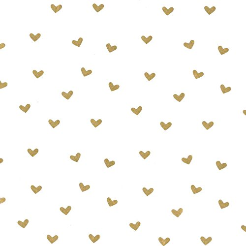 Creative Bag, Festive Tissue Paper, 20x30'', Gold Hearts, 100ct, Merchandise, Retail, Party, Boutique, Gift, Bulk, Notion, Christmas, Holiday by Creative Bag