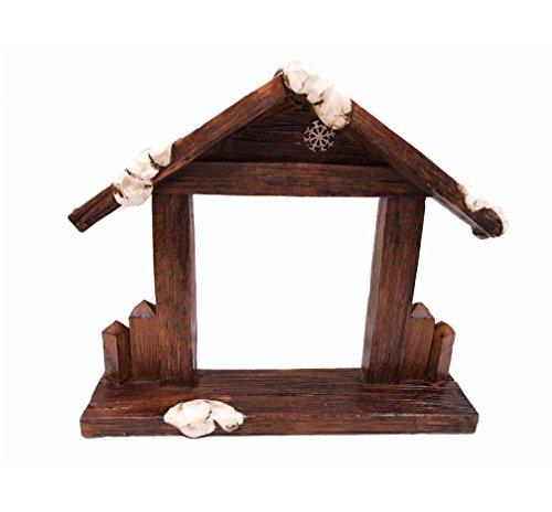 눈사람 출생 장면 10 조각 탁상 의자 Creche 작은 입상 세트/Snow..