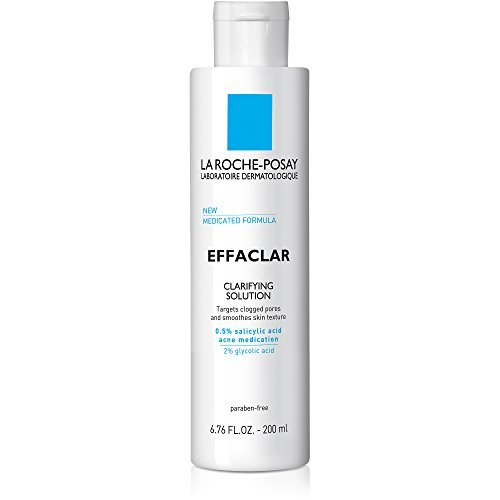 Clarifying Gel Facial Moisturizer - La Roche-Posay Effaclar Clarifying Solution Acne Toner with Salicylic Acid, 6.76 Fl. Oz.