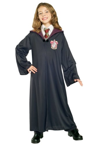 Harry Potter Hermione Halloween Costume (Rubie's Child's Harry Potter Gryffindor Robe,)