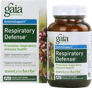 Gaia Травы дыхания обороны 60 Вегетарианская капсулы