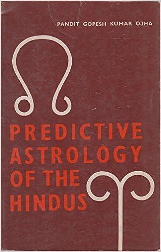 Predictive Astrology Of The Hindus Pandit Gopesh Kumar Ojha Amazon