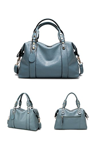 Sunwel Fashion Women's Faux Leather Medium Boston Bags Shoulder Strap Crossbody Handbag Tote 13