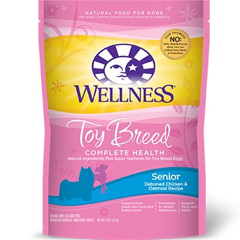 Wellness Complete Health Natural Dry Toy Breed Senior Dog Food, Chicken & Oatmeal, 4-Pound Bag
