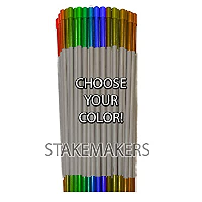 "Driveway Markers | Choose Your Color! Snow Stakes, Plow Stakes, Fiberglass, Multipack, Reflective Tape, 5/16"", 1/4"""