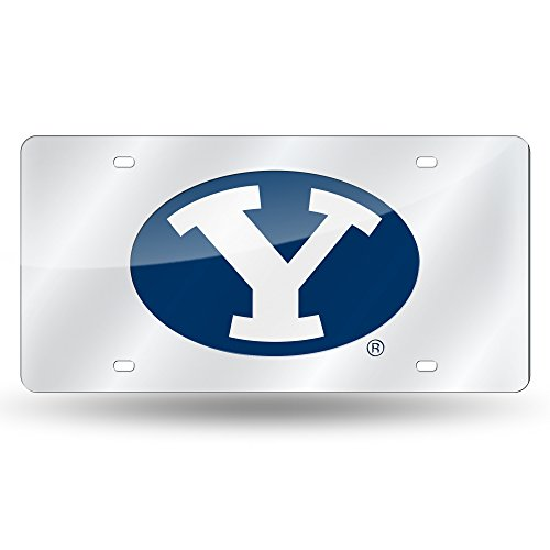 Rico Industries RIC-LZS510201 Brigham Young Cougars NCAA Laser Cut License Plate -