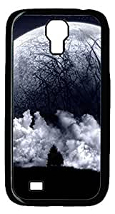 Brian114 Samsung Galaxy S4 Case, S4 Case - Black Hard PC Cases for Samsung Galaxy S4 I9500 Huge Moon Ultra Fit for Samsung Galaxy S4 I9500