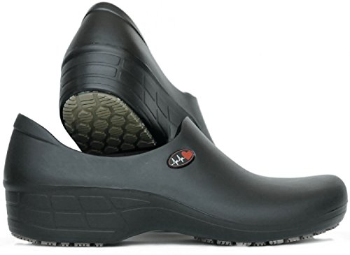 Women's Cute Nursing Shoes - Waterproof Slip-Resistant - Keep Nursing (9.5 B(M), Blk Elec. Heart) ()