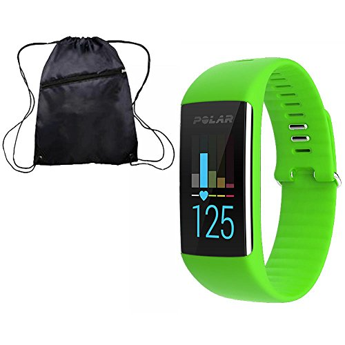 Polar A360 Medium Green Fitness Monitor with Cinch Bag by Polar