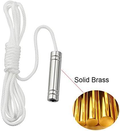 SFTlite Light Pull Kette Ringed Zylinder Verl/ängerung mit Kugelkette 85 cm Lange Badezimmer Wc Schalter Chromiert Deckenventilator Licht Pull Cord