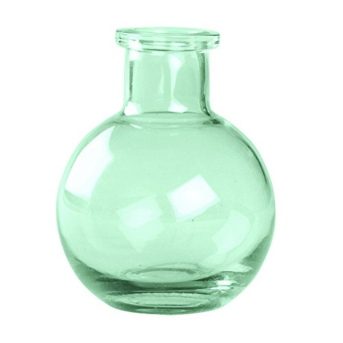 Ivy Lane Design Transparent Glass Vases, 3.5-Inch, Mint, 5-Pack