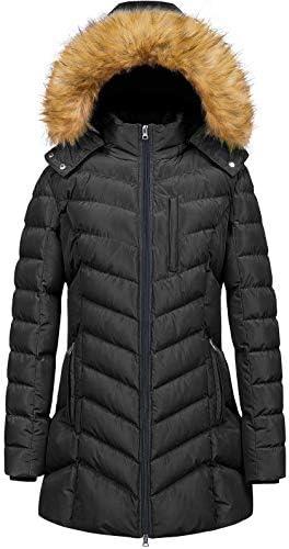 Womens' Winter Hooded Coat Waterproof Warm Long Puffer Jacket Parka