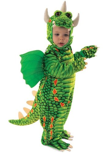 Underwraps Kid's Underwraps Toddler Adorable Dragon Costume, Large Childrens Costume, green, Large